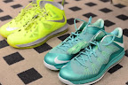 nike lebron 10 low pe green white 1 03 LEBRON X LOW, KOBE 8 and KD V   Nike Easter Collection