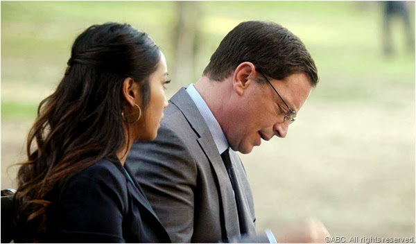 Brenda Song and Joshua Malina in SCANDAL.