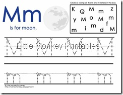 Mm moon handwriting