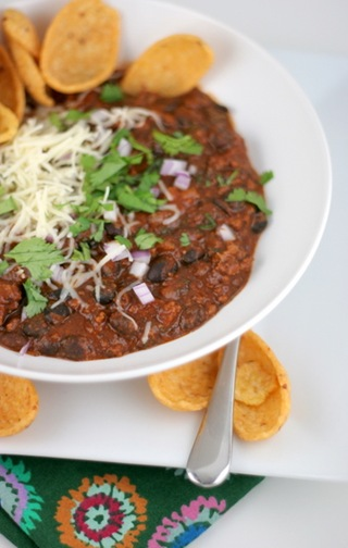 beef and black bean chili 1