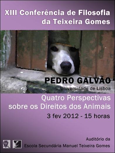 cartaz XIII CONFERENCIA FILOSOFIA TEIXEIRA GOMES