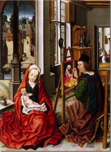 Derick Baegert, St luc peignant la Vierge