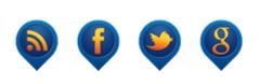 İpucu Balonu Tarzında Sosyal Butonlar