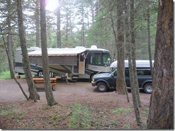 Our Campsite at Lac La Hauche Provincial Park North 100 Mile house