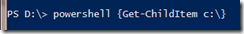 ChildPowerShell process0
