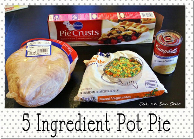 5 ingredient chicken pot pie
