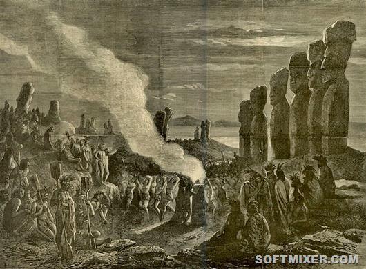 всё это статуи моаи