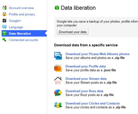 download photos Google+