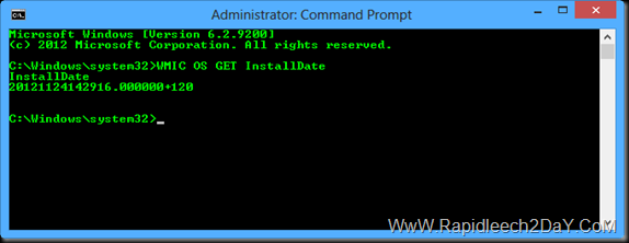 alternative command prompt Determine Windows was Installed