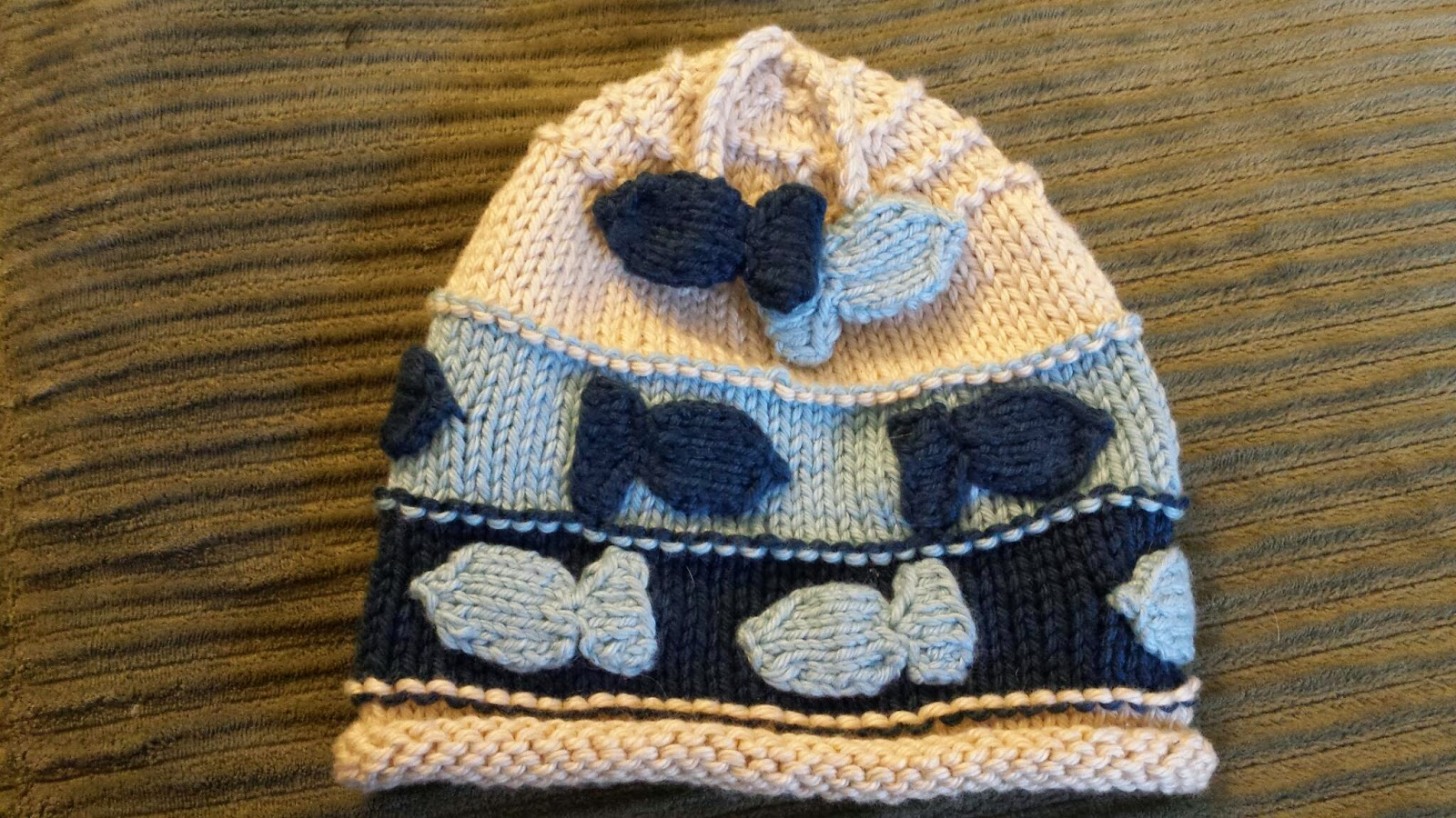 ChemKnits: Charlie - A Fishy Baby Hat