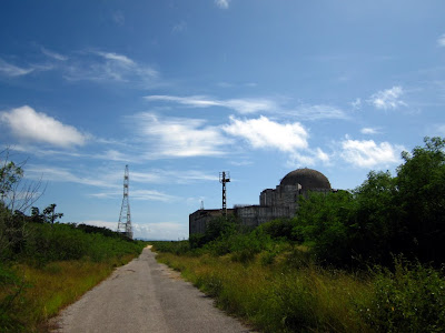 A failed attempt for Nuclear power, accros the bay from Cienfuegos.