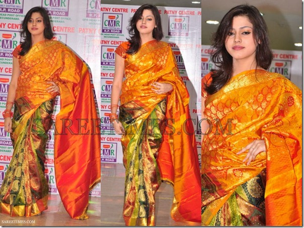 Orange_Green_Traditional_Saree