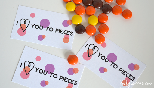graphic about I Love You to Pieces Printable titled I Take pleasure in Yourself towards Components Valentine Printable - Poofy Cheeks