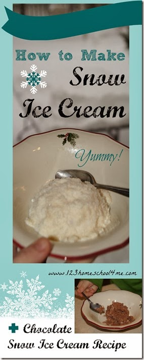 How to Make Snow Ice Cream - includes a simple snow ice cream recipe. This is such a FUN winter activity for kids of all ages. And the ice cream is super YUMMY!!