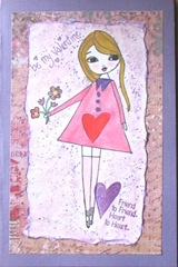 water color large girl w heart