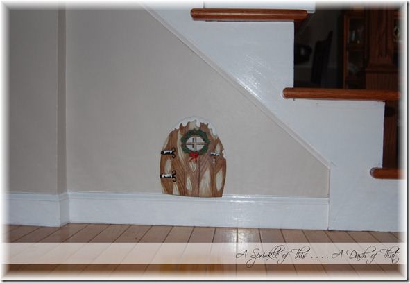 Elf on a Shelf Magic Door {A Sprinkle of This . . . . A Dash of That}