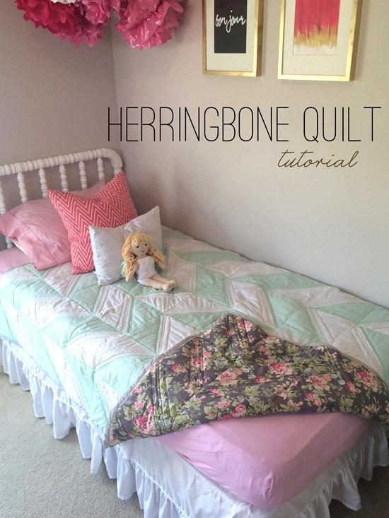 Herringbone Quilt Tutorial | Shan Made