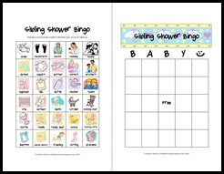 Sibling Shower Bingo Cards - mini