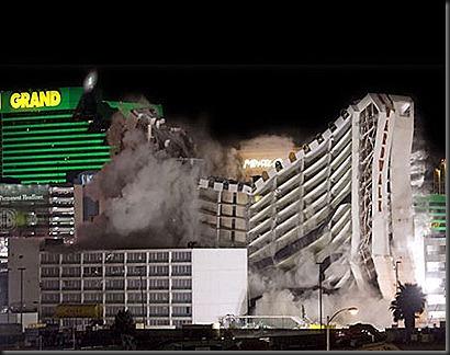 demolicion hotel las vegas