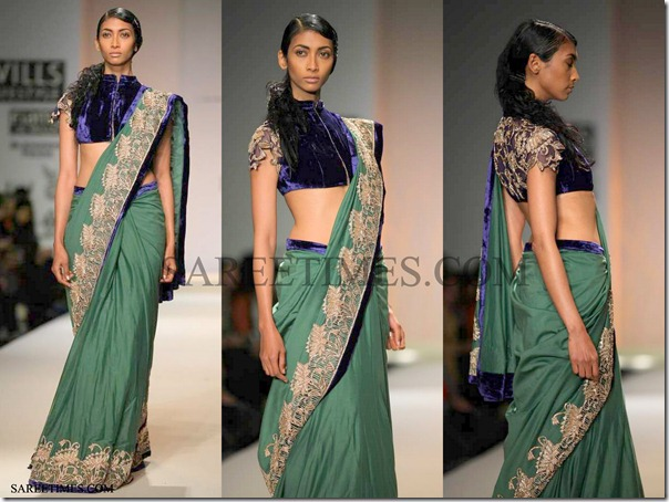Anita_Dongre_Green_Saree