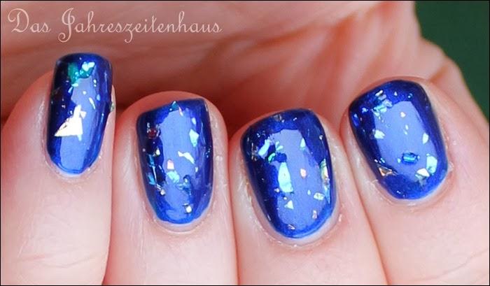 0 Blaue Flakies H&M Glitzerlack weiß 4