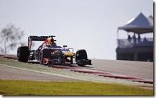 Vettel nelle prove libere del gran premio degli Stati Uniti 2013