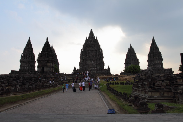 Entering the Prambanan Temple Complex of Indonesia
