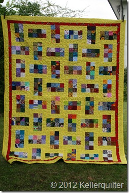 Quilt015-Scrappy in Gelb