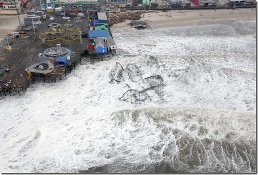 Seaside Heights pierafter Sandy