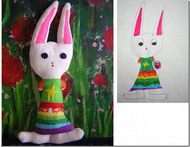 Brinquedos de pelúcia feitos a partir de desenhos de crianças (14)