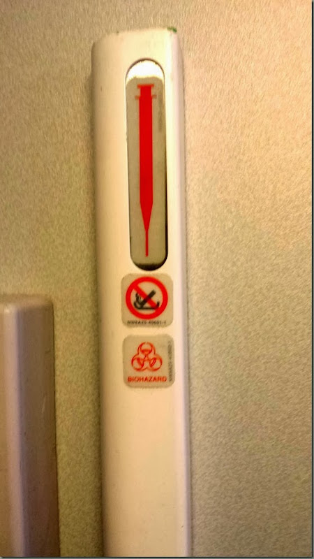sharps disposal on plane