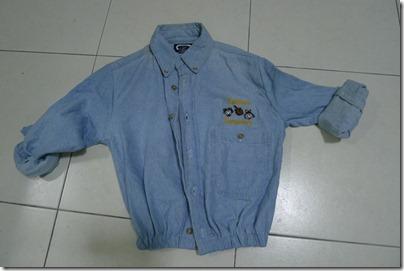 chambray mini jacket