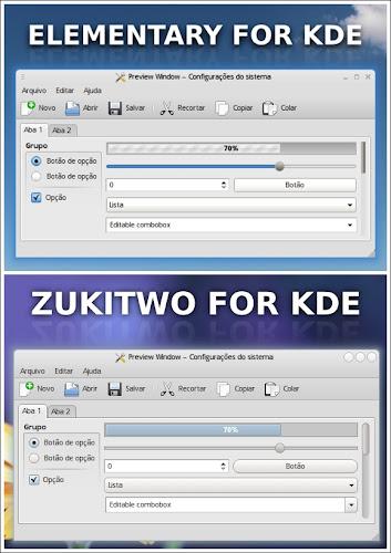 Elementary e Zukitwo approdano in KDE