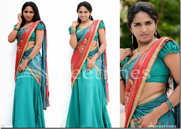 Green_Printed_Half_Saree