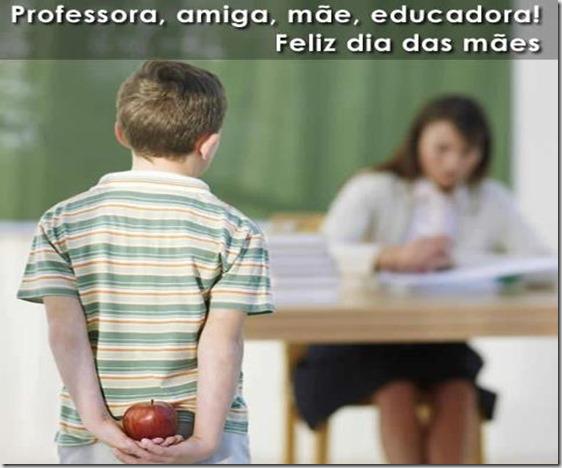 Professora, amiga, mãe educadora