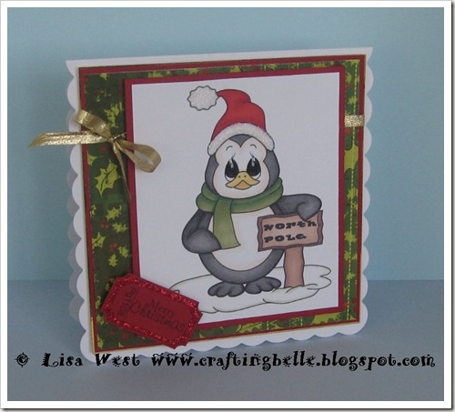 Cute Penguin Christmas Card (1)