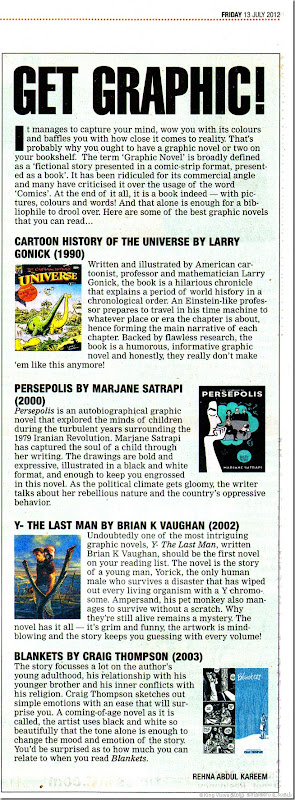 The Times of India Chennai Edition Chennai Times Page No 08 Get Graphic Article
