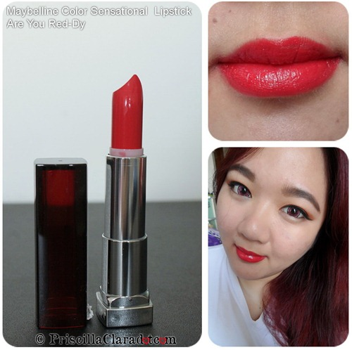 Priscilla review Maybelline Color Sensational  Lipstick Are You Red-dy