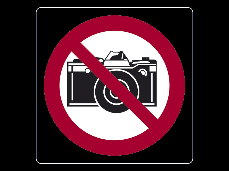 Vietato fotografare w
