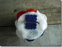 usa flower pin
