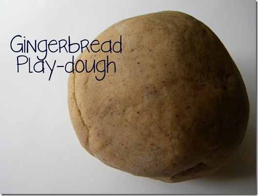 gingerbread playdough