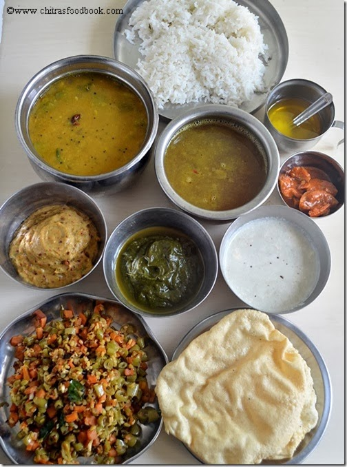 Tamilnadu-lunch-menu-before-serving