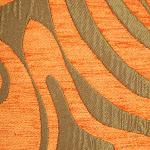 Tkanina obiciowa w stylu lat 60-tych, 70-tych. Pomarańczowa.