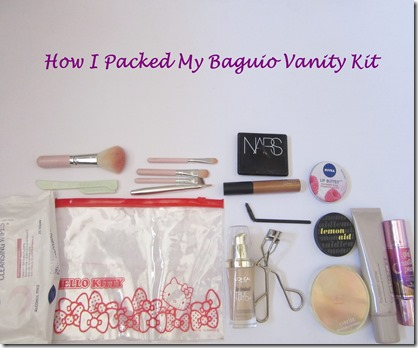 how i packed my baguio vanity kit