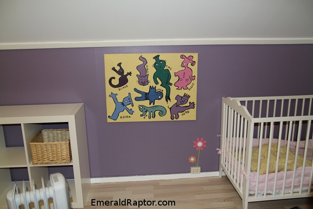 Monstre på babyrommet