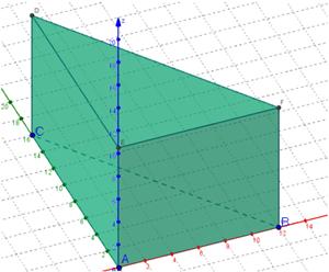 prisma a base triangolare (tr. rettangolo)