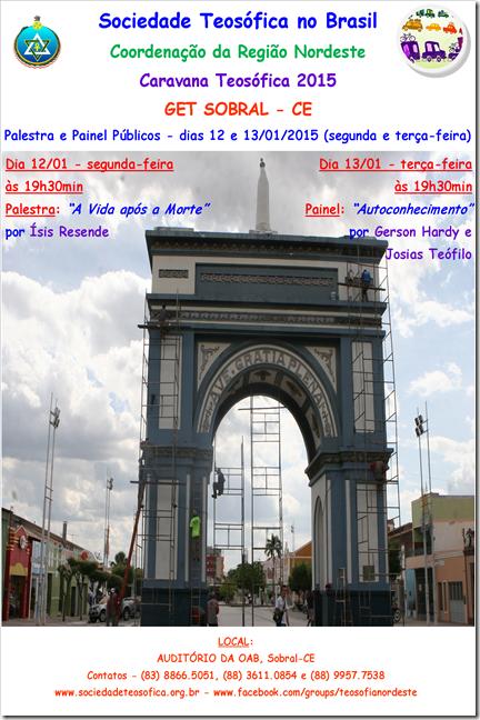 Cartaz - dias 12 e 13.01.2015 - Sobral-CE