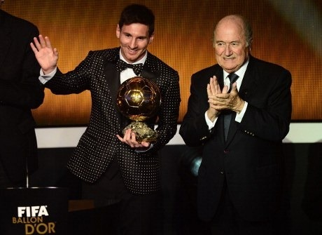 Lionel Messi Pemain Terbaik Dunia 2012
