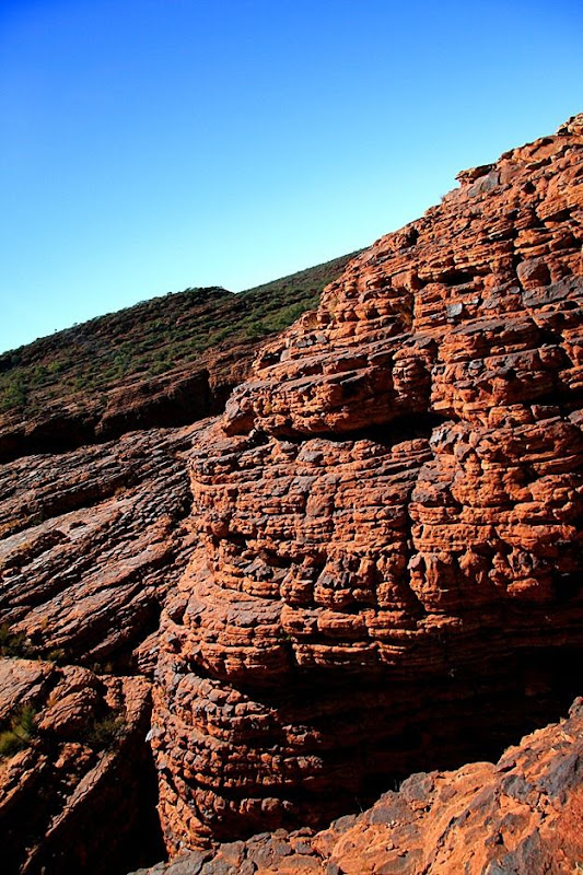Cliff walls canyon rock formation Kings Canyon outback Australia