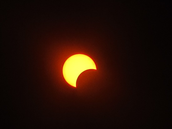 Eclipse from Brown Mountain 1